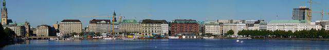 Hamburg.Jungfernstieg.panorama