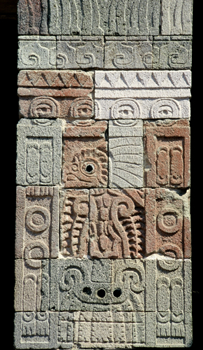 Teotihuacan - Palacio de Quetzalpapalotl - Columna
